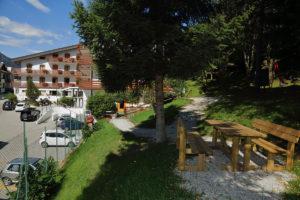 Il parco dell'hotel Splendid